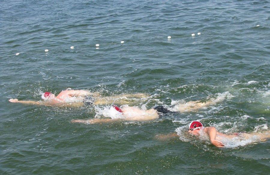 Andres Olvik võitis Väikese väina ujumise!