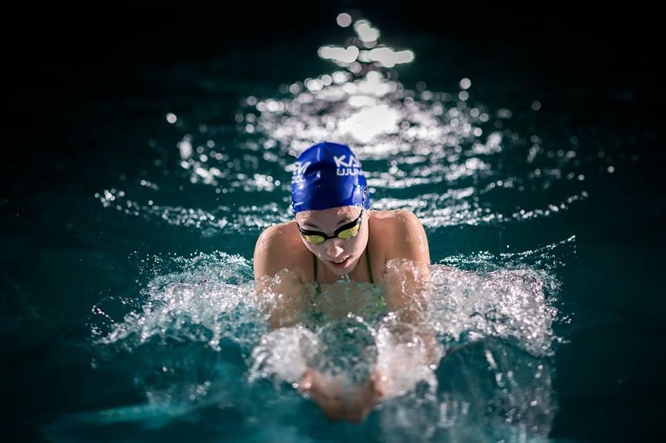 Ujumiskooli õpilased Soomes poodiumil