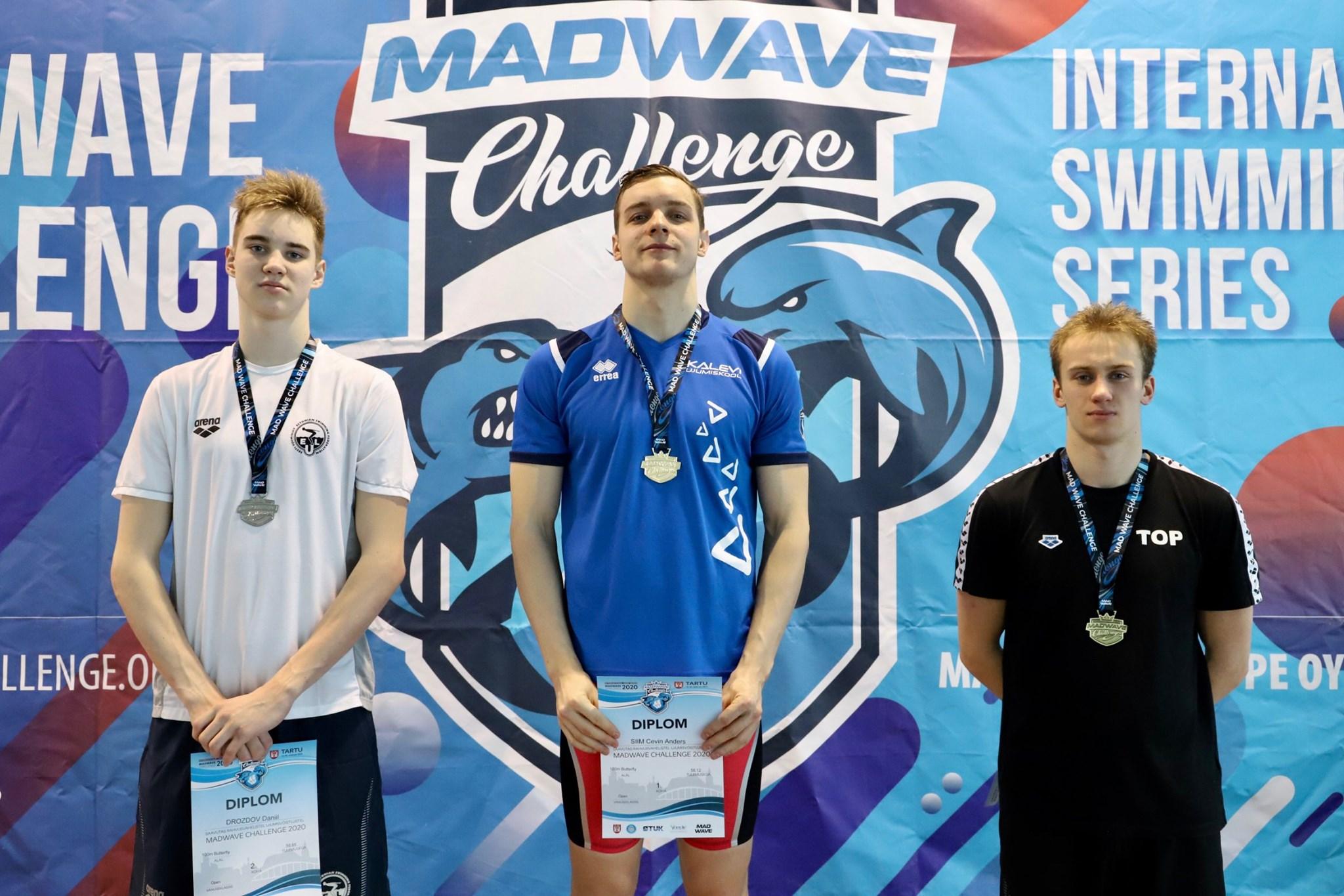 """Tartus peetud """"Madwave Challenge"""" ujumisvõistlustelt naaseti 11 medaliga"""