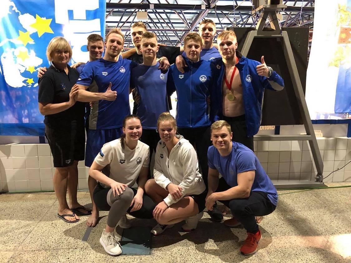 Kalevi Ujumiskooli ujujad aitasid Eesti koondised Baltimaade meistriteks!