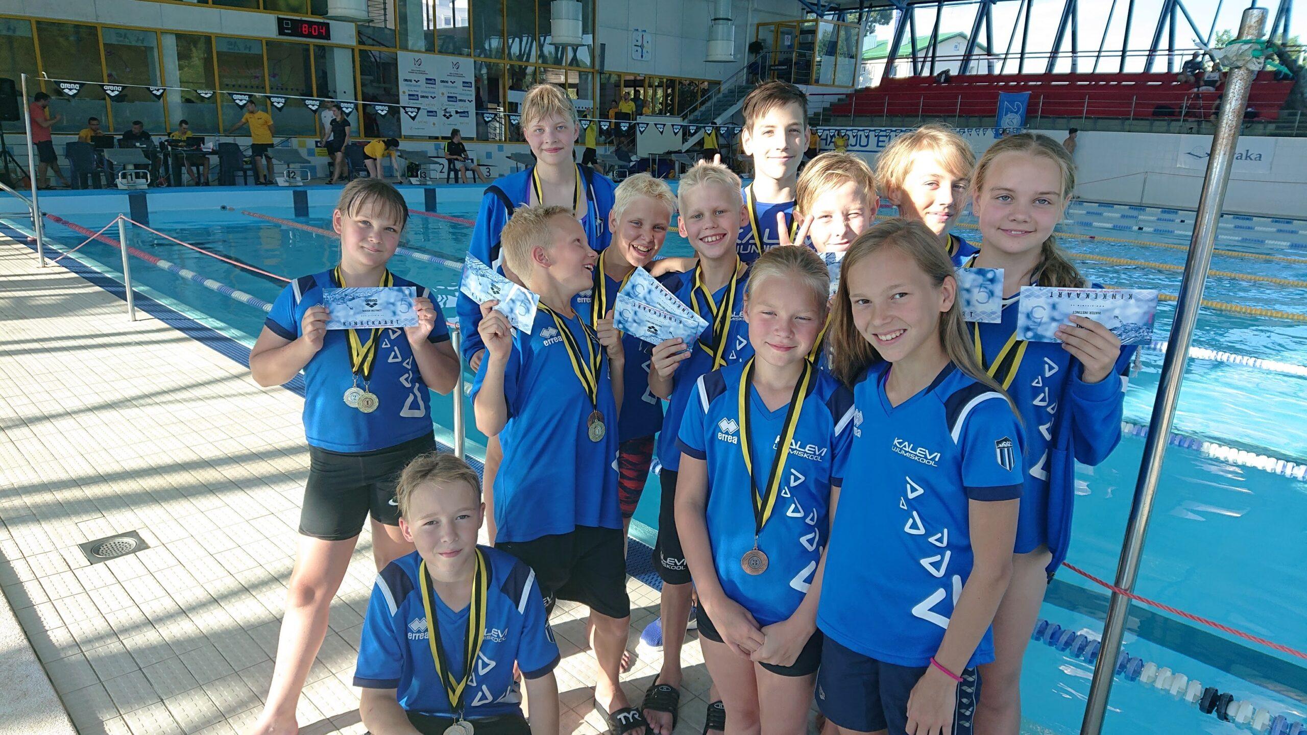 Noored ujujad startisid Keilas toimunud võistlusel Garant Summer Meet