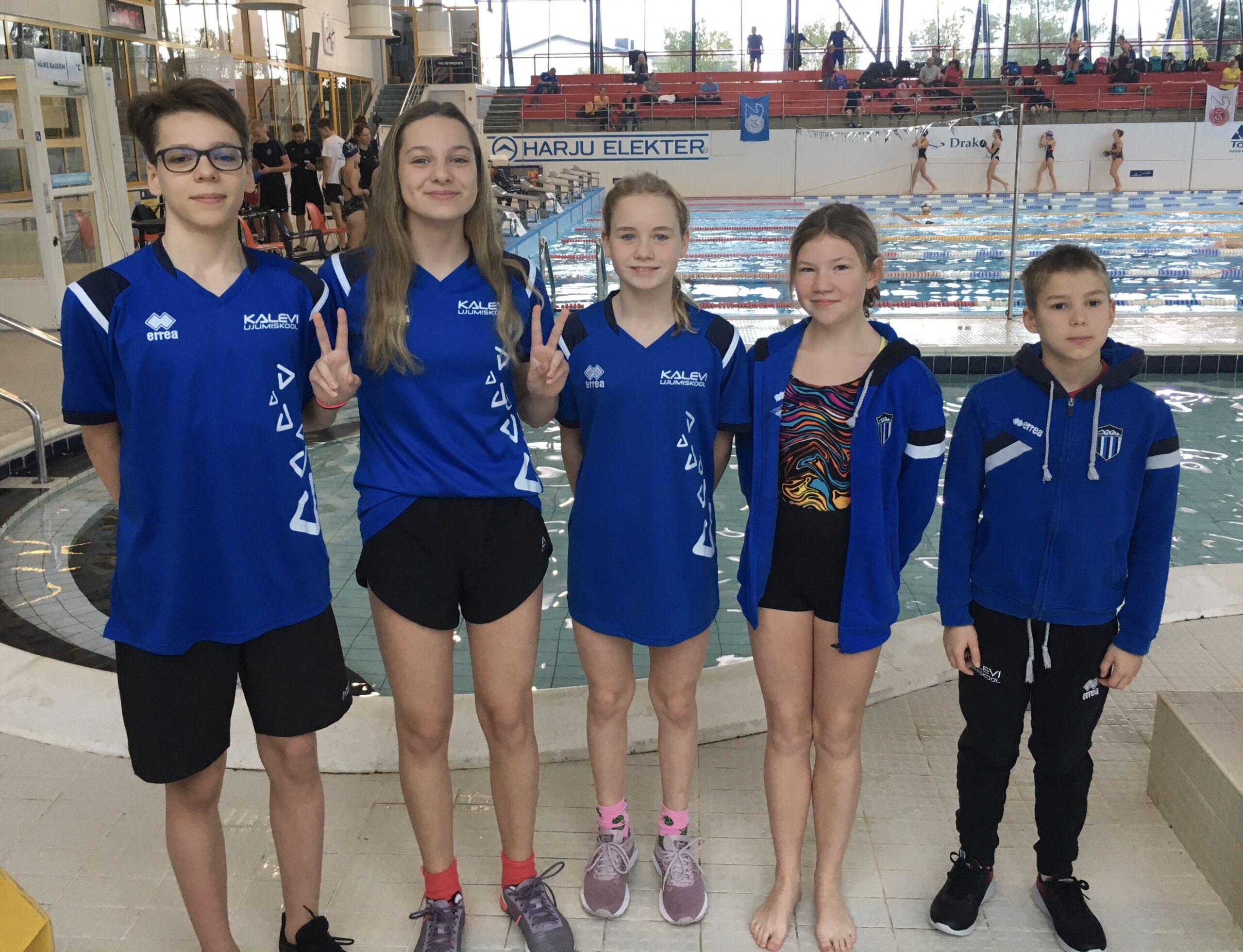 """Viis Ujumiskooli ujujat startis Keilas toimunud """"Arena Baltic Talents"""" I etapil"""