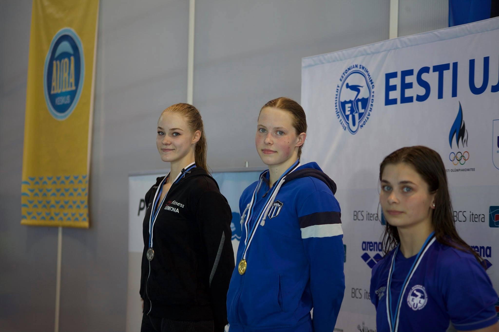 Eesti noorte- ja juunioride meistrivõistlustel pälvisid ujujad 31 medalit
