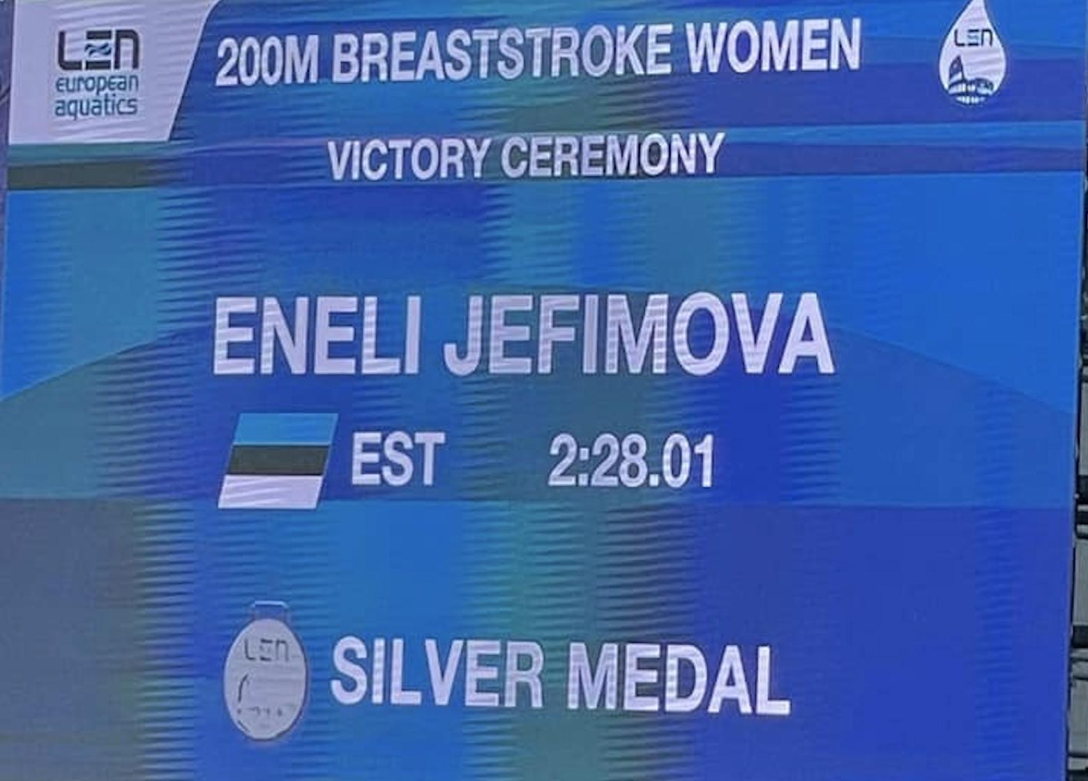 VINGE! Jefimova tõusis Euroopa juunioride meistrivõistlustel taas poodiumile